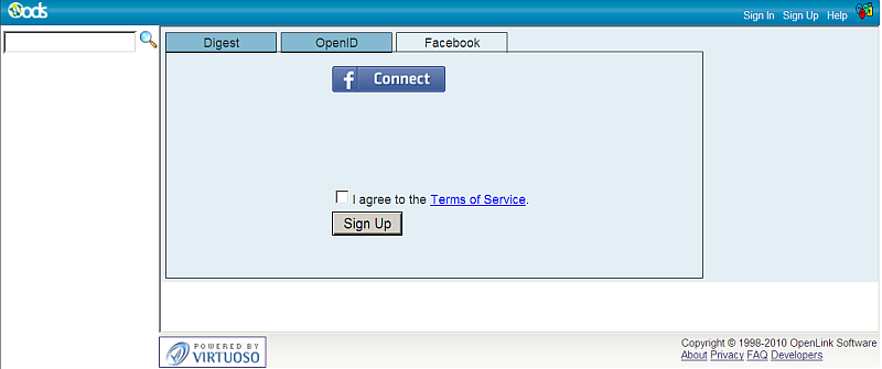 Link ODS user with Facebook account using the Sign Up Facebook